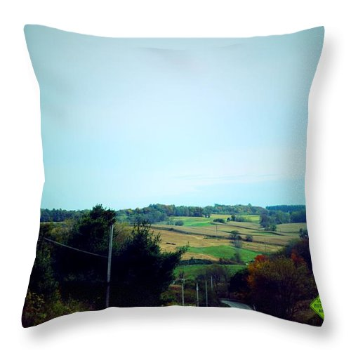 Fall Throw Pillow featuring the photograph        Road Trip by R A W M