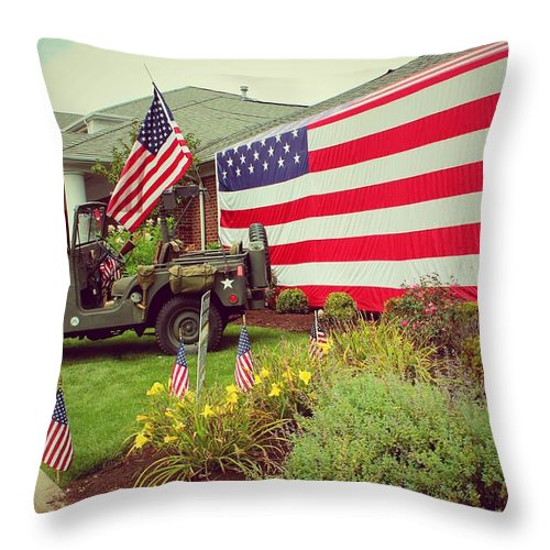 United States Army Throw Pillow featuring the photograph    Some Gave All by R A W M