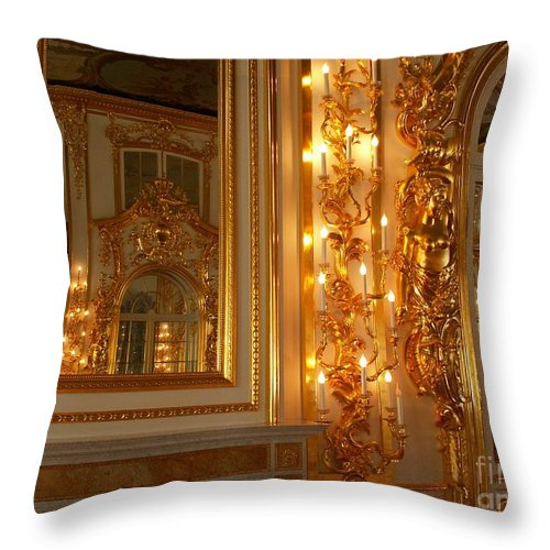 Ancient Throw Pillow featuring the photograph Ancient Hall In Museum by Evgeny Pisarev