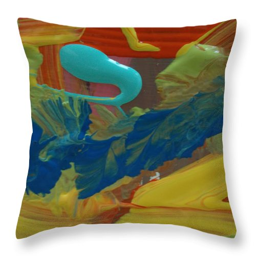 Original Throw Pillow featuring the painting ? by Artist Ai