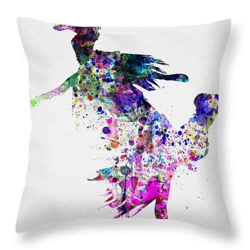Ballet Throw Pillow featuring the painting Ballet Watercolor 3 by Naxart Studio
