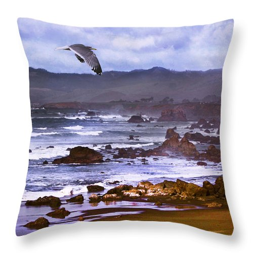Seascape Throw Pillow featuring the photograph California Highway 1 by Kandy Hurley