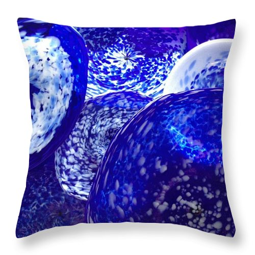 Art Throw Pillow featuring the photograph Chuli Blown Glass by Jeffrey Akerson