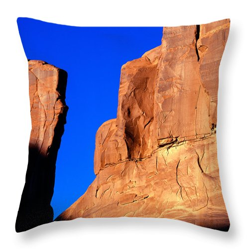 Arches National Park Throw Pillow featuring the photograph Courthouse Towers by Tracy Knauer