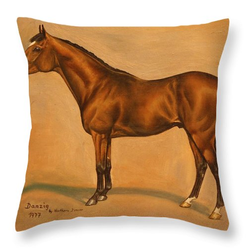 Champion Throw Pillow featuring the painting Danzig by Birgit Schnapp