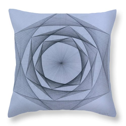 Jason Padgett Throw Pillow featuring the drawing  Energy Spiral by Jason Padgett
