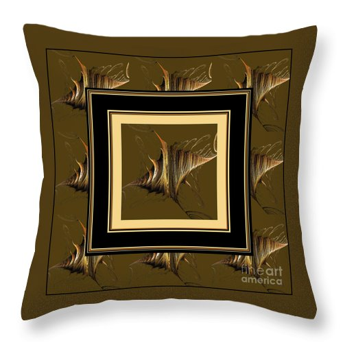Gossamer Wings Throw Pillow featuring the digital art Gossamer Wings by Barbara Griffin