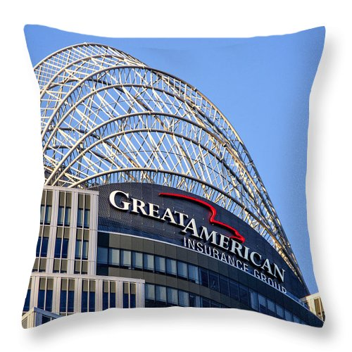 Ohio Throw Pillow featuring the photograph Great American Tower by Phil Cardamone