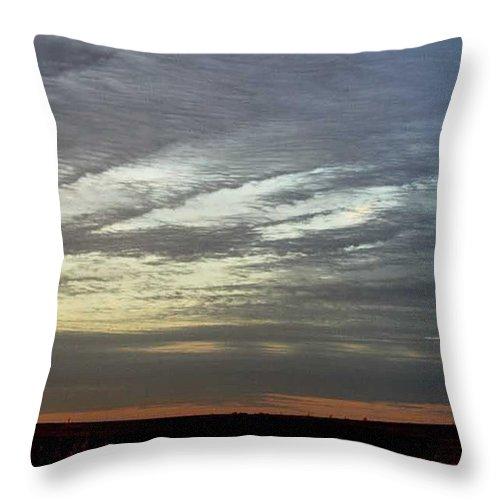 Prairie Throw Pillow featuring the photograph Kansas Prairie Grass Sunrise by PainterArtist FIN