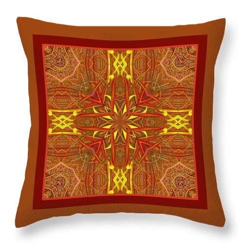 Throw Pillow Throw Pillow featuring the photograph Keltic Cross by I'ina Van Lawick