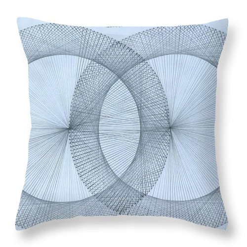 Fractal Throw Pillow featuring the drawing Magnetism by Jason Padgett