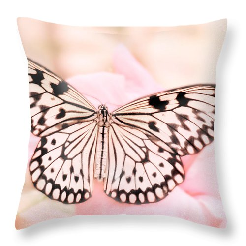 Butterfly Throw Pillow featuring the photograph Paper Kite by David and Carol Kelly