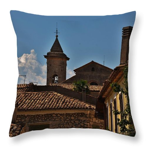Arpino Throw Pillow featuring the photograph Rooftop Of The City by Dany Lison