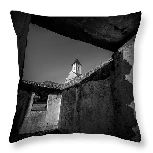 Hawaii Throw Pillow featuring the photograph St. Joseph Church Maui Hawaii by Edward Fielding
