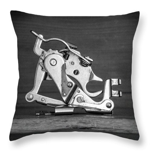 Singer Throw Pillow featuring the photograph The Vital Part by David Hare