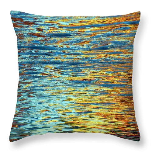 Water Throw Pillow featuring the photograph Thinking Of Autumn by Everette McMahan jr