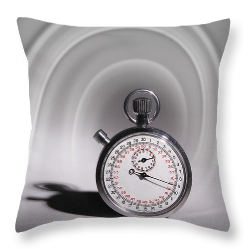Close Up Throw Pillow featuring the photograph Time Travel by David and Carol Kelly