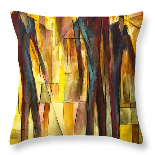 Figurative Throw Pillow featuring the painting ' Untitled ' by Michael Lang