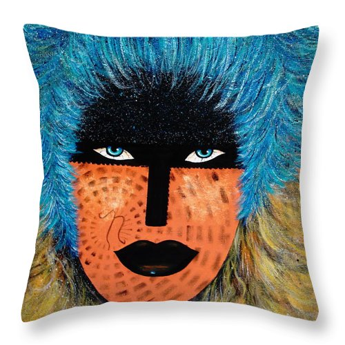 Woman Throw Pillow featuring the painting Viva Niva by Natalie Holland