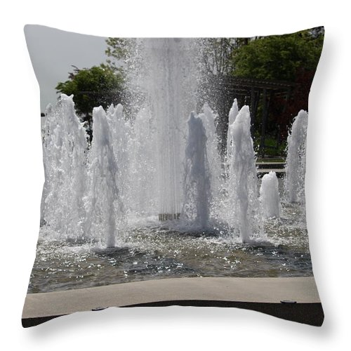Water Throw Pillow featuring the photograph Water Fountains by Mark Tsemak