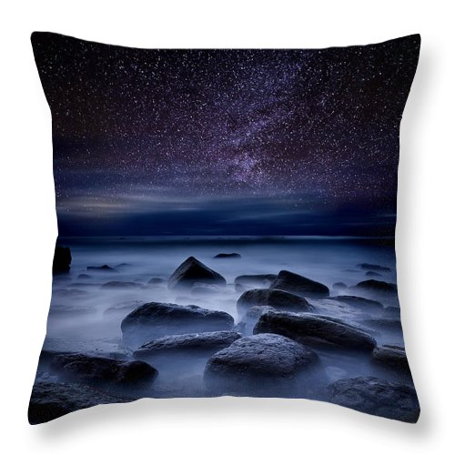 Night Throw Pillow featuring the photograph Where dreams begin by Jorge Maia