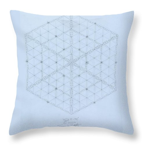 Energy Throw Pillow featuring the drawing Why Energy Equals Mass Times the Speed of Light Squared by Jason Padgett
