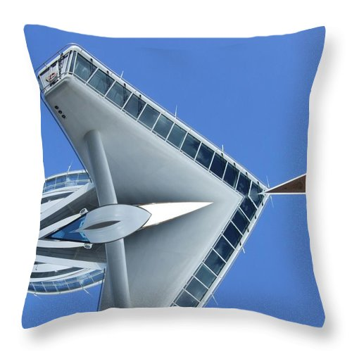 Abstract Throw Pillow featuring the digital art 01-10-2014 by John Holfinger