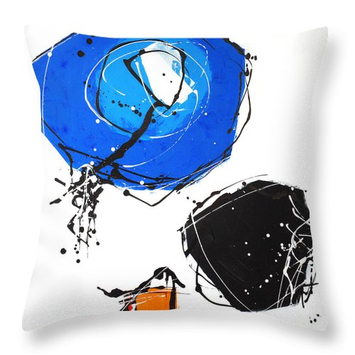 Painting Throw Pillow featuring the painting 010815 by Toshio Sugawara