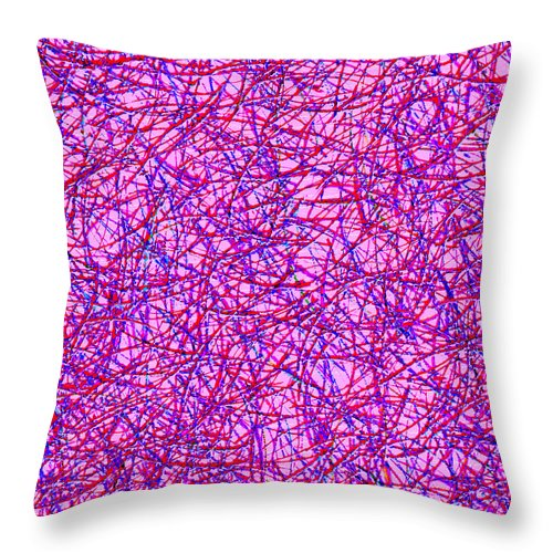 Abstract Throw Pillow featuring the digital art 0125 Abstract Thought by Chowdary V Arikatla