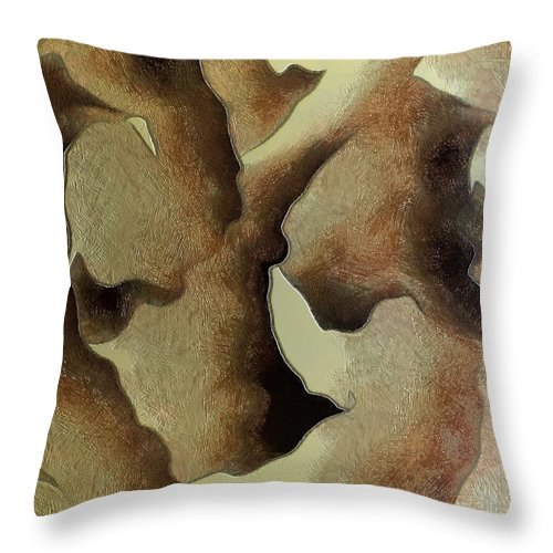 Still Life Throw Pillow featuring the painting 0142 by I J T Son Of Jesus