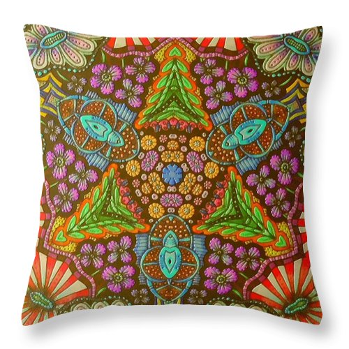 Still Life Throw Pillow featuring the painting 0176 by I J T Son Of Jesus