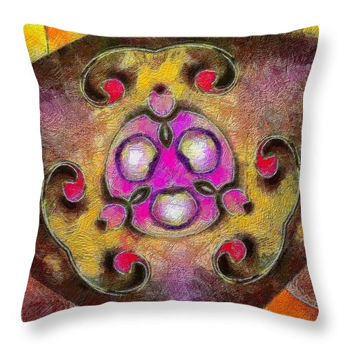 Still Life Throw Pillow featuring the painting 0177 by I J T Son Of Jesus