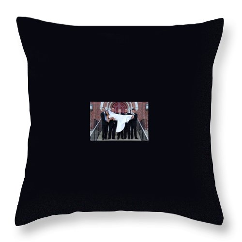 Throw Pillow featuring the photograph 02 by Michael Dorn