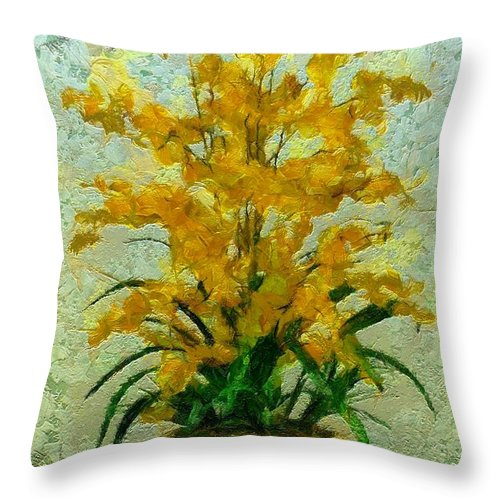 Still Life Throw Pillow featuring the painting 0255 by I J T Son Of Jesus