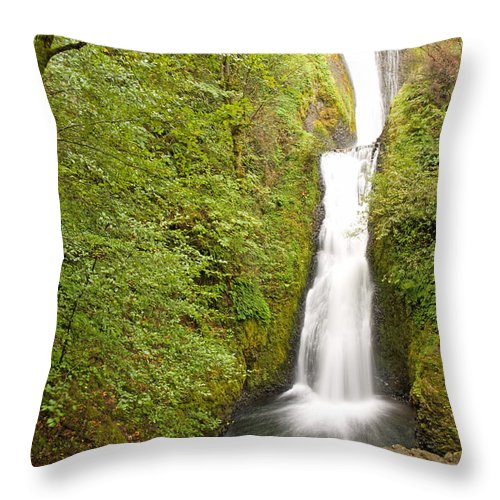 Bridal Throw Pillow featuring the photograph 0336 Bridal Veil Falls by Steve Sturgill