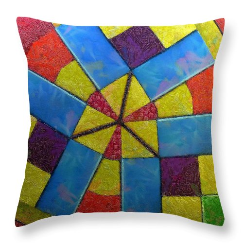 Still Life Throw Pillow featuring the painting 0344 by I J T Son Of Jesus