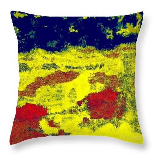 Abstract Throw Pillow featuring the digital art 0375 Abstract Thought by Chowdary V Arikatla