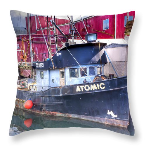Oregon Throw Pillow featuring the photograph 0512 Oregon Coast by Steve Sturgill
