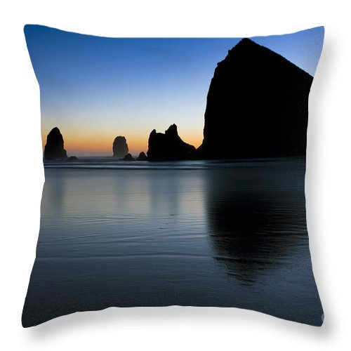 Cannon Throw Pillow featuring the photograph 0514 Cannon Beach - Oregon by Steve Sturgill