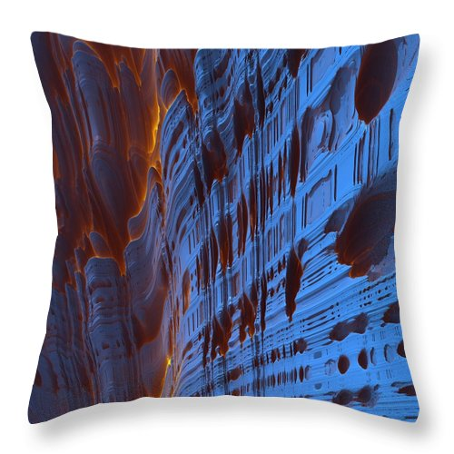Abstract Throw Pillow featuring the painting 0546 by I J T Son Of Jesus