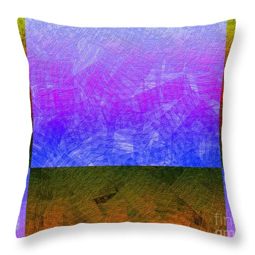 Abstract Throw Pillow featuring the digital art 0770 Abstract Thought by Chowdary V Arikatla