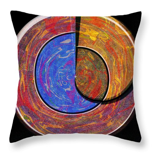 Abstract Throw Pillow featuring the digital art 0826 Abstract Thought by Chowdary V Arikatla