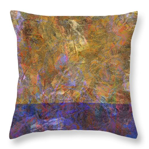 Abstract Throw Pillow featuring the digital art 0913 Abstract Thought by Chowdary V Arikatla