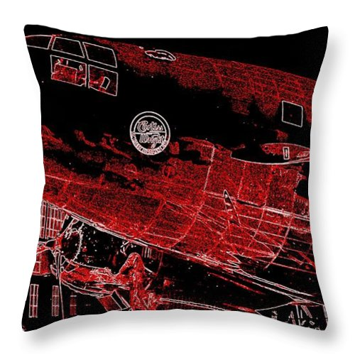 2214  Curtiss-wright Commando Throw Pillow featuring the photograph  Curtiss-wright Commando by Hank Clark