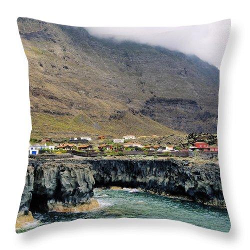 Rocky Coastline Throw Pillow featuring the photograph Hierro by Karol Kozlowski