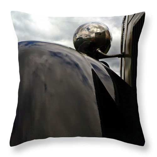 Cars Throw Pillow featuring the photograph Antique Car Fender by Karl Rose