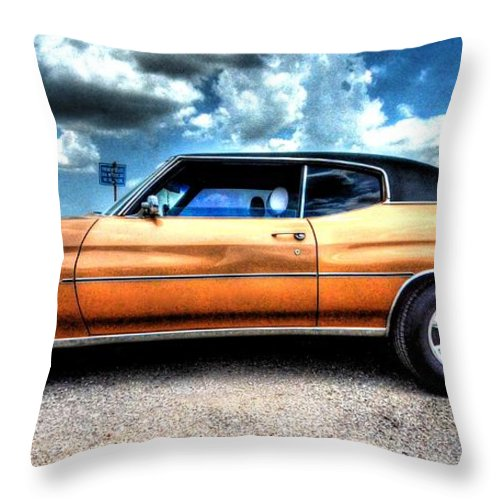 1972 Chevrolet Chevelle Throw Pillow featuring the photograph 1972 Chevelle by David Morefield