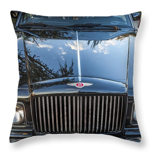 1990 Bentley Throw Pillow featuring the photograph 1990 Bentley Turbo R by Rich Franco