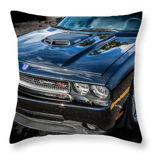 Dodge Throw Pillow featuring the photograph 2010 Dodge Challenger Rt Hemi  by Rich Franco