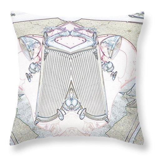 Car Throw Pillow featuring the digital art 1-24-2014 by John Holfinger